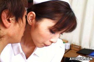 Horny Nurse Riko Tachibana Blowjob