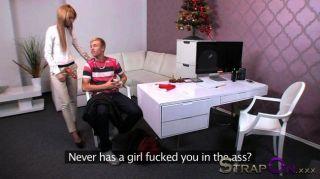 Strapon - Gina Devine Fucks A 18 Year Old Guy