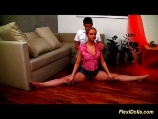 Flexible Sexdoll Getting Fucked On The Couch