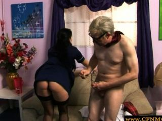 Cfnm Femdom Demands Fucking From Old Man