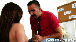 New Teen Girl Gets Slammed By Her Boss