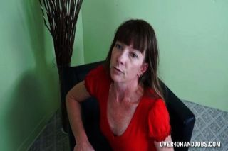 A Horny Milf Jacks Off A Younger Man