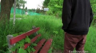 Teasing Handjob In The Park