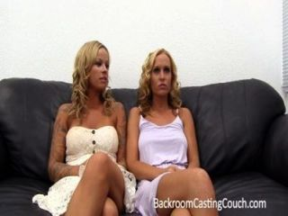 2 Hot Blonde Girlfriends Walk In To An Office...