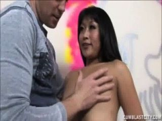 Sexy Asian Splattered With Cum