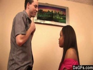 Ebony Slut Gets Sex With The Landlord