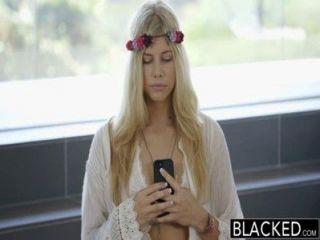 Blacked Model Addison Belgium Squirts On Huge Black Dick