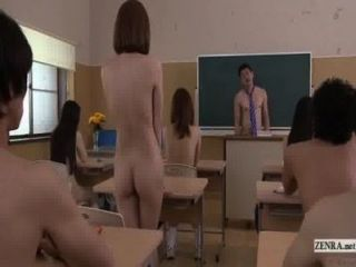 Subtitled Uncensored Japanese Nudist School Pop Quiz