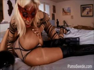 Big Titted Puma Swede And Sandy Play With The Maid!