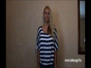 Cute Blonde W Enormous Juggs Blows Knob
