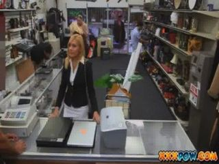 Sexy Milf Banged And Moans Loud In Pawn Shop!