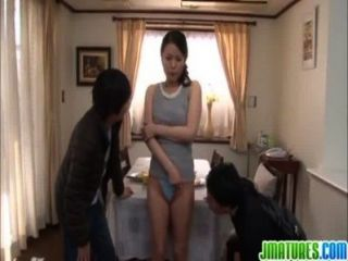 Japanies Mom Get Fucked By Friends