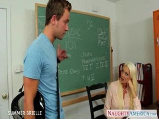 Blonde Teacher Summer Brielle Fuck In Classroom