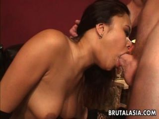 Alluring Asian Hottie Moans While Her Ass Is Pounded Hard