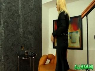 Blonde Gets A Slimy Toy To Fuck