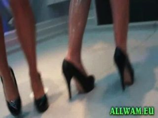 Classy Girls In Kinky Shower Dance Party