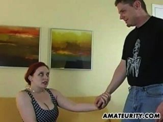 Busty Amateur Girlfriend Home Fucking Action