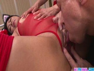 Creampied Aika Hoshino Fucked In Red Lingerie