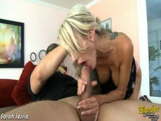 Blonde Girl Sarah Jessie Ride Cock