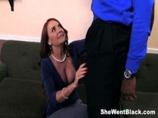 Janet Mason Fucks Two Huge Black Cocks