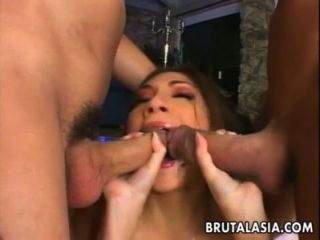 Enchanting Asian Girl In A Wicked Threesome