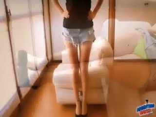 Perfect Cameltoe And Legs Latina, Gaping And Trying Fist!