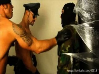 Agressive Soldier And Cop Dominates Slave - 131
