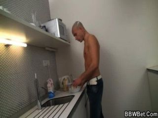 Hardcore Sex With Bbw At The Kitchen