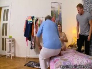 Marina's Man Pet Her Virgin Body In Bedroom