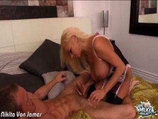 Busty Maid Nikita Von James Fucking