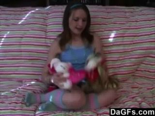 Petite Teen Gets Her Very First Orgasm