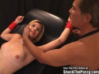 Acrobatic Blonde Bitch Electrified Fuck Session!