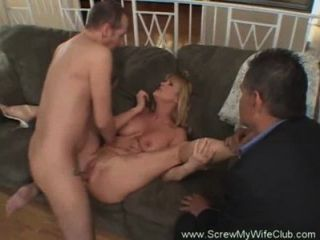 Hotwife Swinger Makes Hubby Happy