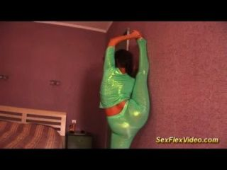 Cute Big Natural Breast Gymnast Teen In Spandex