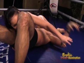 Lana The Brunette Boxer Dominates Her Man In The Ring