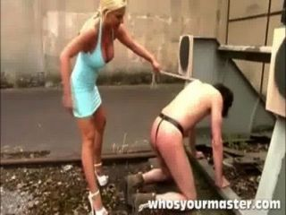 Blonde Punishes Her Submissive Husdband