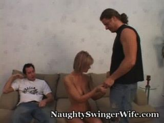 Hottie Wife Swings With Two Hard Cocks