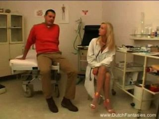 Blonde Dutch Doctor Fucks Her Patient