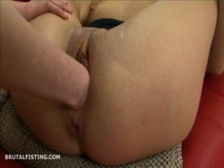Inga Has Her Pussy Brutally Fisted By Her Blonde Friend