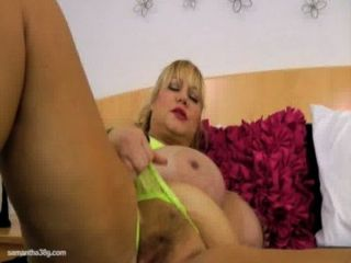 Old Busty Bbw Slut Samantha 38g Drills Pussy With Sex Toy