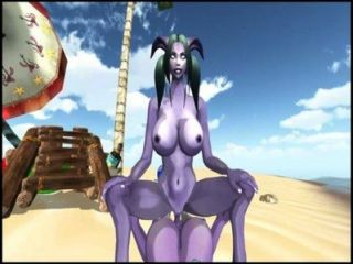 Warcraft Night Elf Draenei Game Pov 3danimationgaming