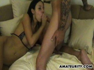 Amateur Girlfriend Anal With Facial Cumshot