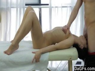 Massage Is A Good Start For This Gorgeous Young Brunette