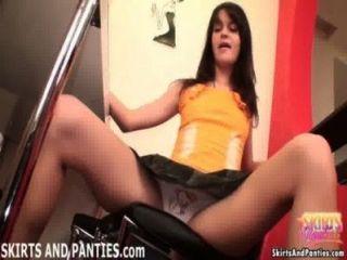 18yo Lara Flashing Her Pretty Panties
