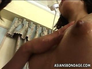 Delicious Japanese Slavegirl Moans During Lesbian Sex