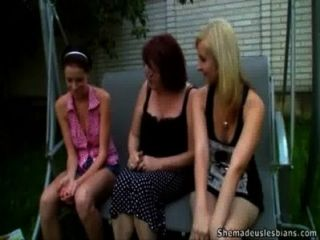 Teen Girls Learn Lesbian Style Masturbating With Their Teacher