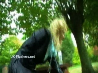 Homemade Flashers Footage Of Sexy Milf Emma Louise Toying In A Park And Upskirt