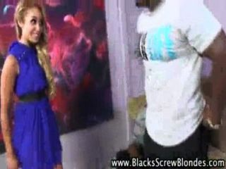 Blonde Counselor Loves Getting Big Black Cocks