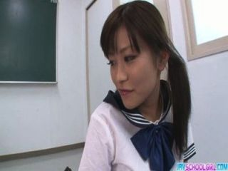 Masturbating In Class Gets Aika Hoshino Cum To Drink