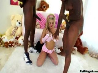Beauty Blonde Andi Anderson And Big Black Cocks